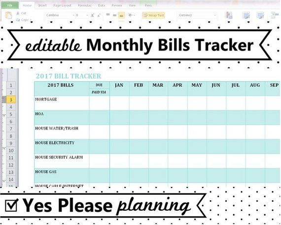 2020 Monthly Bill Tracker Home Utilities Bill Payment Log Etsy Utility Bill Payment Bill Tracker Spreadsheet Template