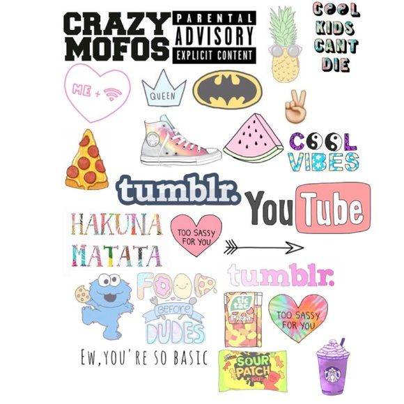 cute tumblr stickers for collages - Google Search