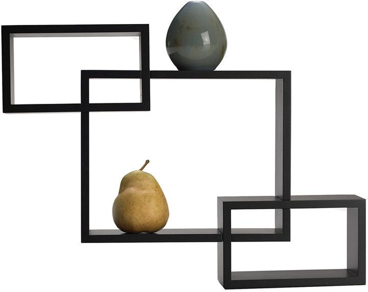 Melannco Floating Shelves Mikasa Melannco Home Decor Espresso Overlapping Cube Wall Shelves