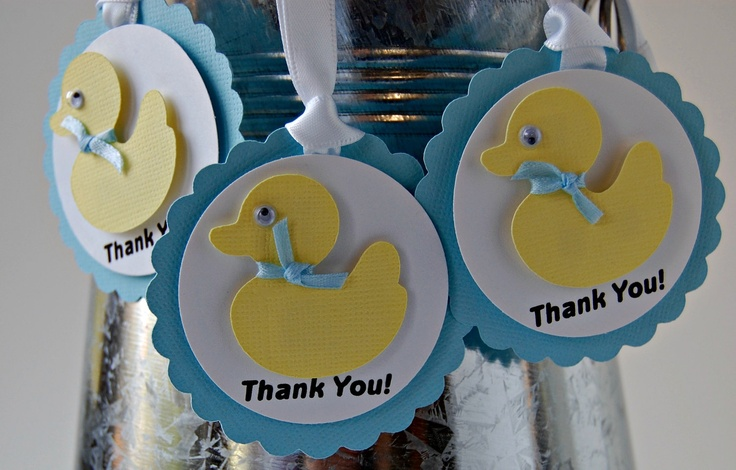 Rubber Duck Baby Shower Birthday Party Favor by WeBringTheParty