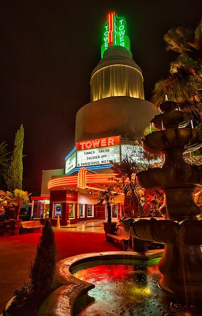 Tower Theatre, a Sacramento landmark.  You should take in a movie and then have dinner next door at Tower Cafe.