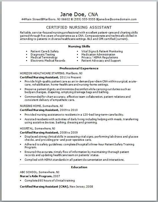 Good Resume Example Cna Pinterest Resume Examples