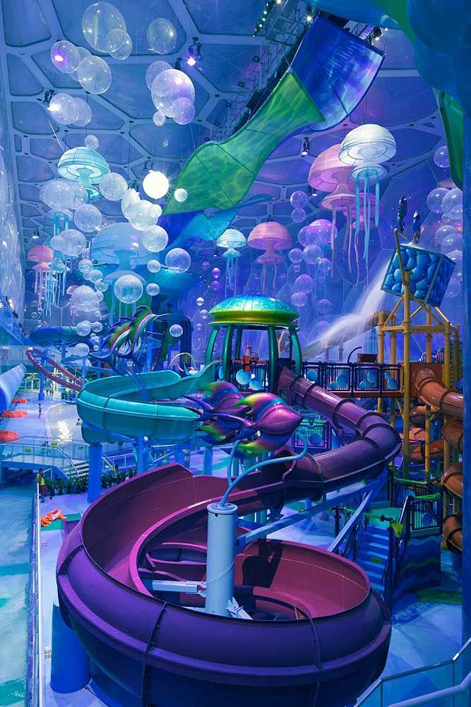 Indoor water-park in China. So cool!