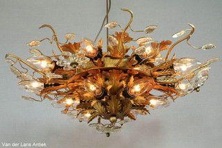 Italiaanse plafonniere 26368 bij Van der Lans Antiek. Meer antieke lampen op www.lansantiek.com
