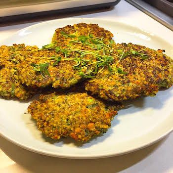 Mung Bean Pancakes/fritters. Perfect for #meatlessmonday or any quick meal during the week.