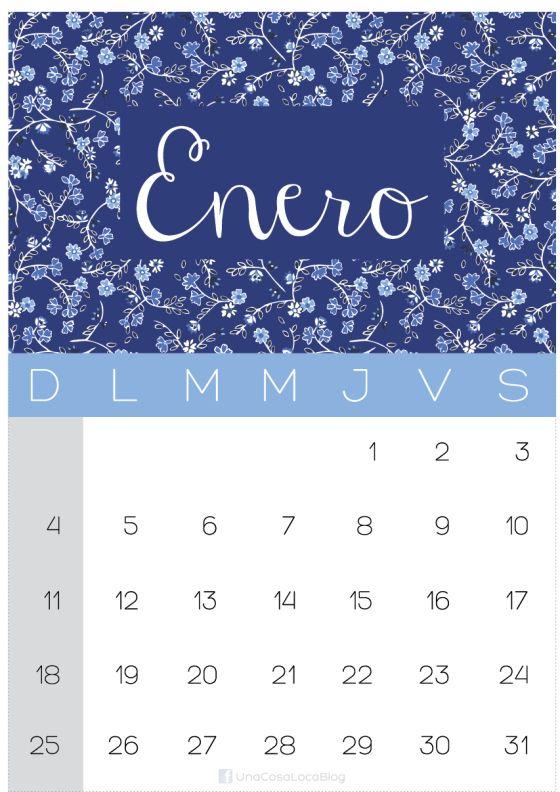 Calendario Enero - 2015