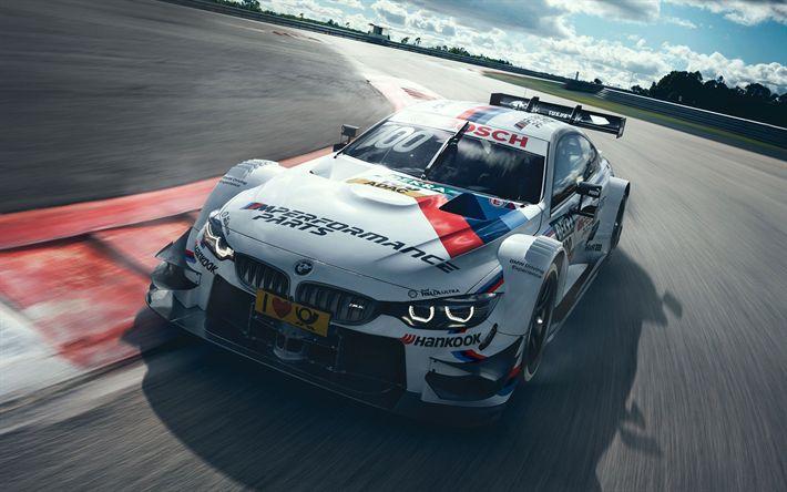 Descargar fondos de pantalla BMW M4 DTM, 2017, Carreras de coches, M4, de carreras, autos alemanes, pista de carreras, BMW