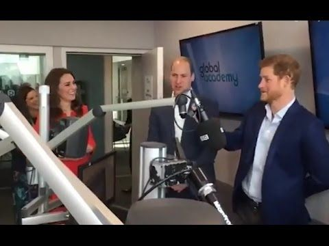 The Duke & Duchess Of Cambridge & Prince Harry officially open The Globa...