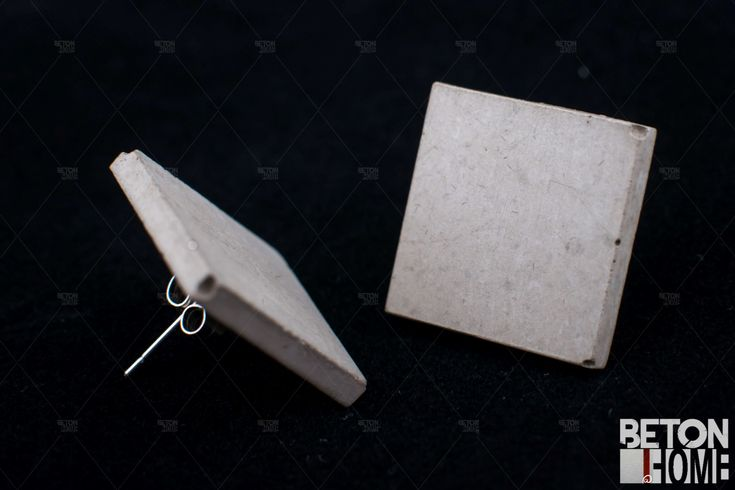 Concrete earring Beton Ohrringe Concrete home jewellery