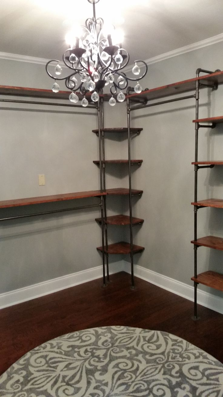 Diy Closet System Best 25 Pipe Closet Ideas On Pinterest Industrial Closet