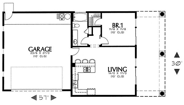 Simple Southwest Guest House Plan 16337md Carriage