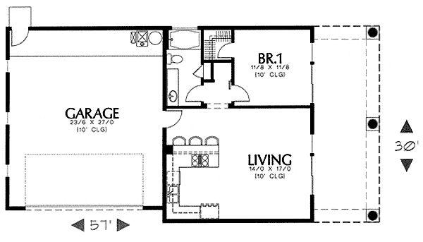 1000 ideas about guest house plans on pinterest tiny for Guest apartment floor plans