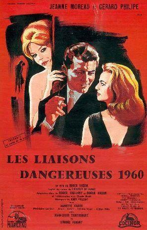 """""""Les liaisons dangereuses"""". de Roger vadim avec Gérard Philipe, Jeanne Moreau, Jean-Louis Trintignant. 1960"""