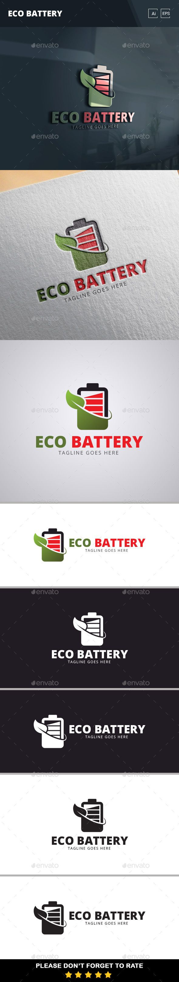 Eco Battery Logo Template