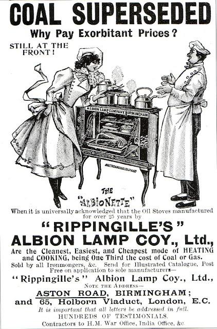 1900 ad: The Albionette Oil Stove