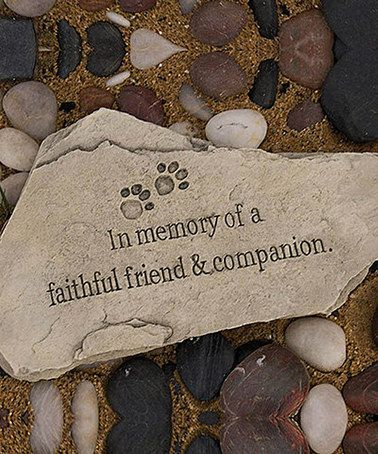 Loving this Faithful Companion Garden Stone on #zulily! #zulilyfinds