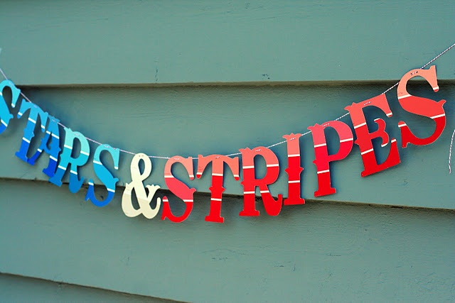 Very creative paint swatch banner....could do lots of fun words with this!