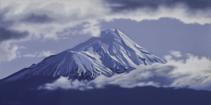 Mt Taranaki from Kaponga, Taranaki, New Zealand. Size: 120cm x 60cm. Price $1800. Feel free to message me on my Facebook site : Kevin Betteridge Art