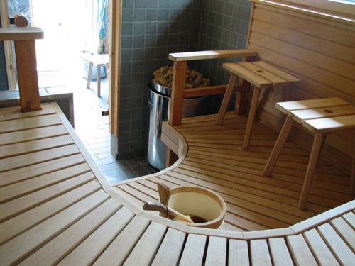 Interesting design for a sauna