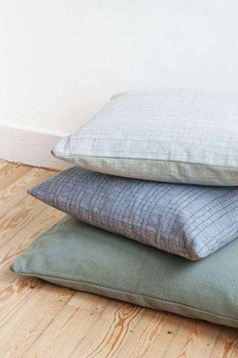 Blue and green pillows by Dille en Kamille