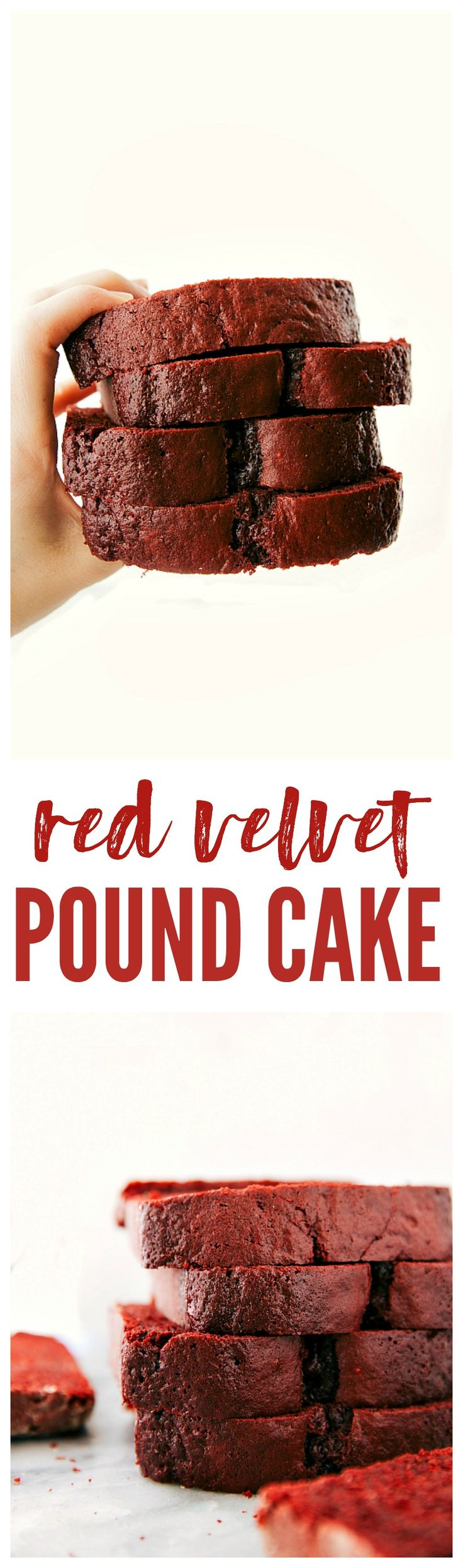 This red velvet pound cake is filled with delicious and rich flavors. It is thick and heavy and absolutely delicious!