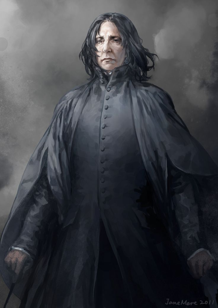 Portrait of Alan Rickman as Professor Severus Snape.