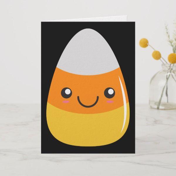 Happy Halloween Candy Corn Emoji Card Zazzle Com Halloween Candy Corn Halloween Candy Happy Halloween
