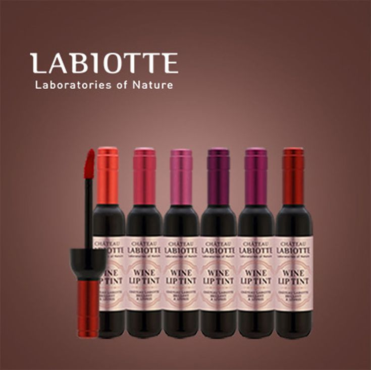 Shateau Labiotte Wine Lip Tint 6 Color Long Lasting Quality Makeup #ChateauLabiotte
