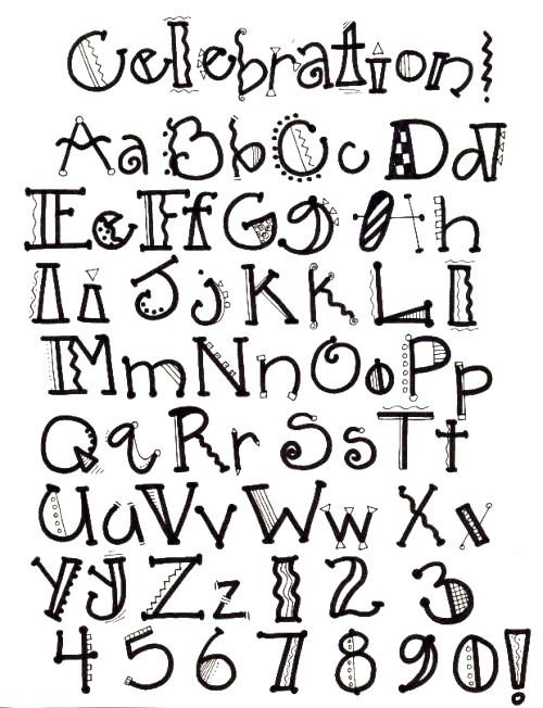Creative Ways To Write Letters cool ways to write letters of the alphabet - home design