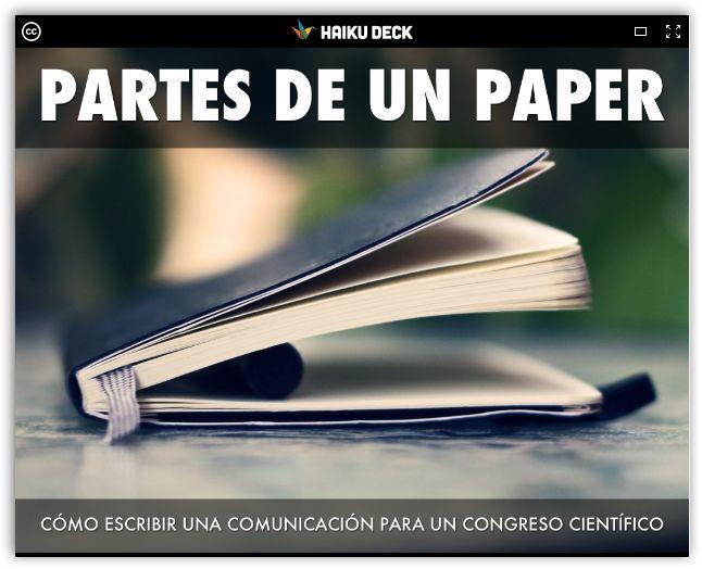 Partes de un paper o comunicación científica