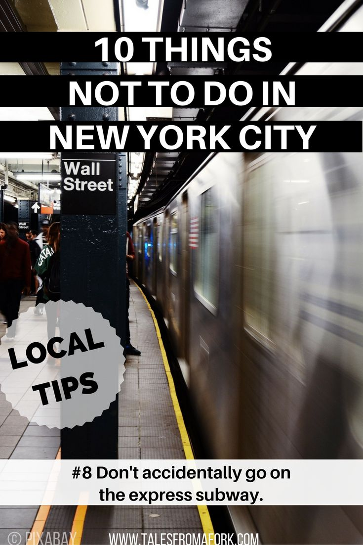 Here is a New York native's tips for 10 things NOT to do in New York City from the hiccups my friends, family, and tourists have made when visiting!