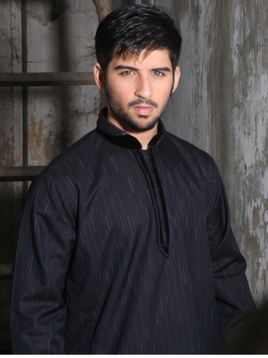 Black Men Kurta Shalwar