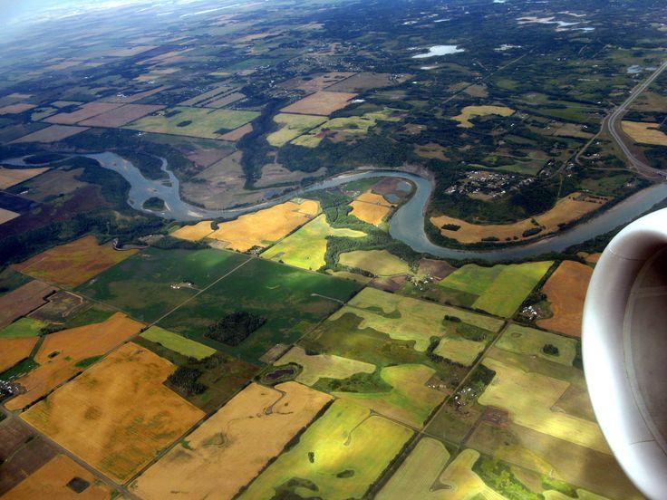 Even from the air, Saskatchewan is breathtaking.
