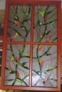 Stained glass room divider - Tiffany  ólomüveg térelválasztó elem.