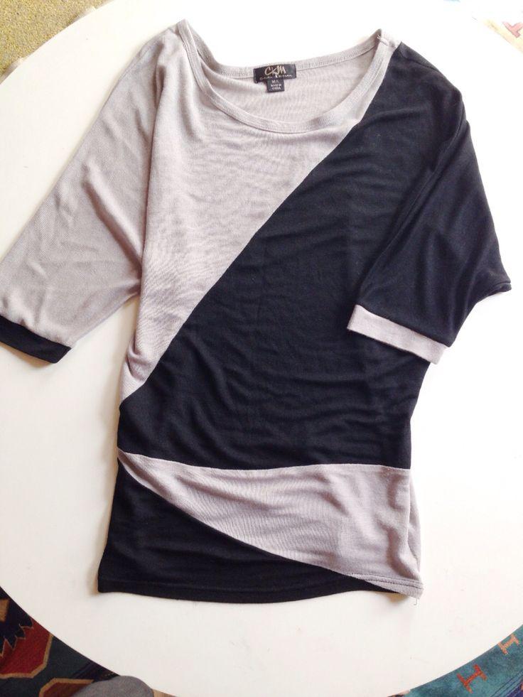 Black n Grey baggy top