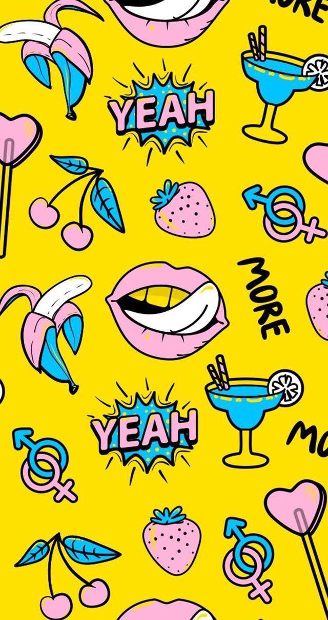 wallpere iphone candybar Pop art wallpaper, Aesthetic