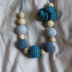 Collier d'allaitement et de patience camaieu bleu