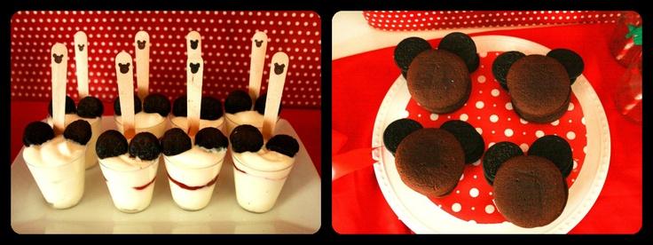 Mickey Mouse Dessert Ideas Using Oreos As Ears Gabriel