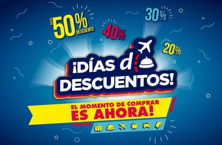 ¿Querés viajar? Llegaron los #DíasDDescuentos: ofertas increíbles, descuentos y muuuchas cuotas ¡No te los pierdas! http://bit.ly/DDDescuentos2016
