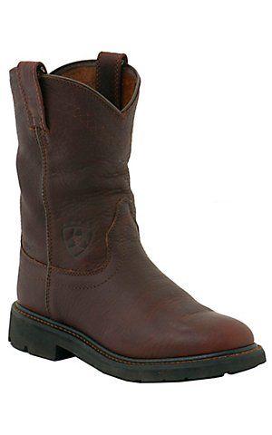 Ariat Mens Sierra Slip-on Workboots - Henna. Have it. Great boots.