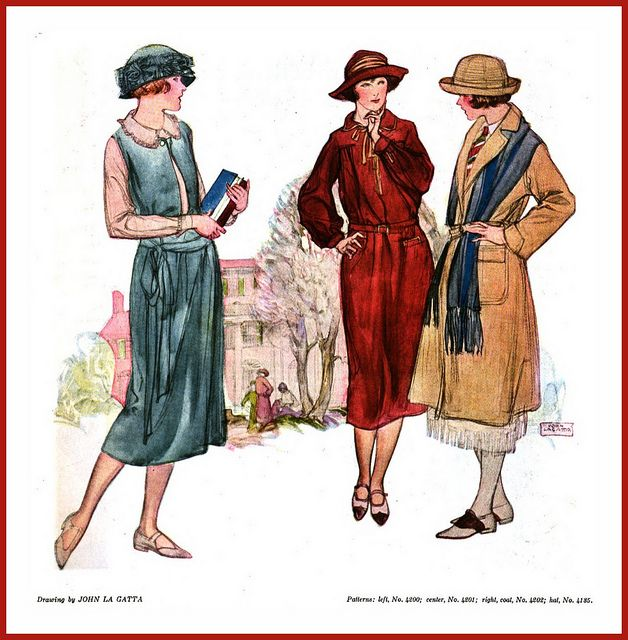 1922 November    Fashion Designs  Young Girls Clothes ----Tweed  -- John La Gatta by carlylehold, via Flickr