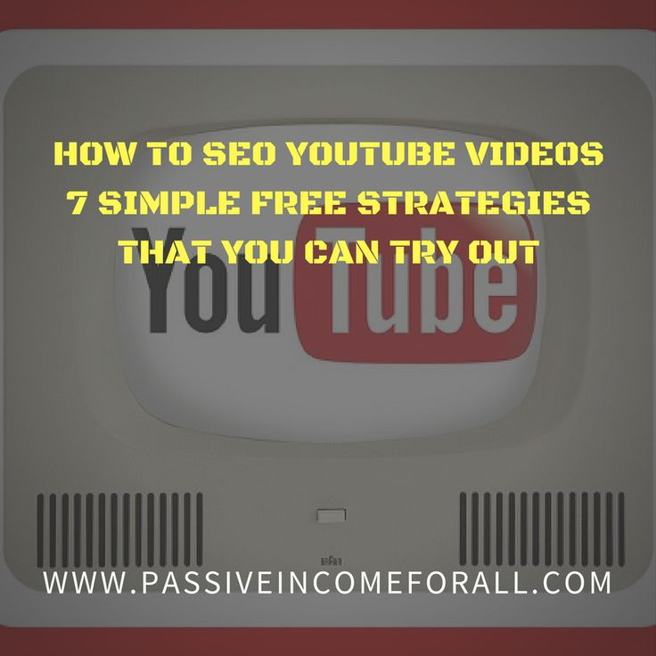 Thinking of Dominating the YouTube world with your videos. Here are 7 FREE Simple Strategies that you can learn on How to SEO Youtube Videos. They are easy to follow tactics and really simple to implement. So go ahead and start YouTubing Away!