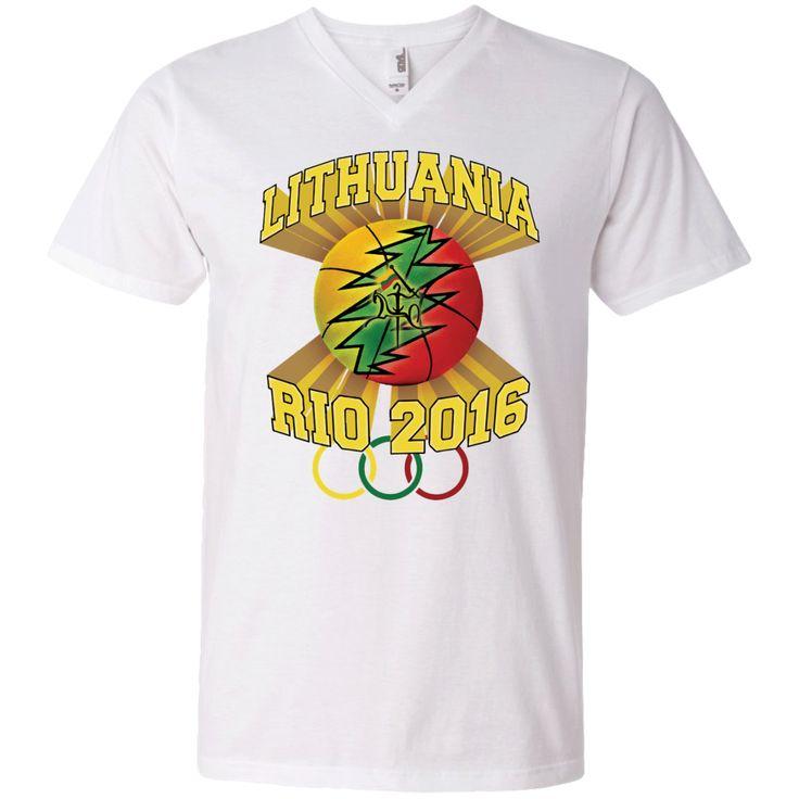 **Rio Olympic Basketball** -- Guys V-Neck