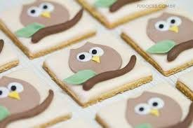 Resultado de imagem para biscoitos decorados com coruja