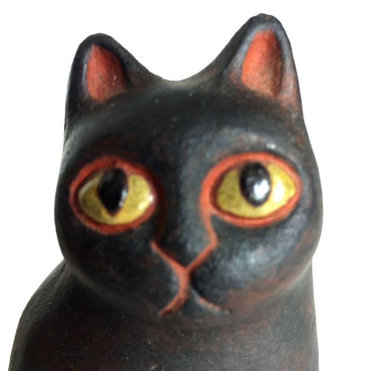 Mid Century Pottery Danish Thyssen Keramik Red Ware Cat