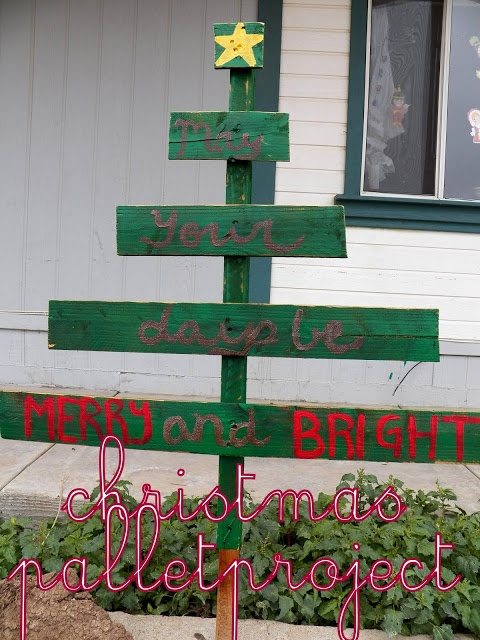 Christmas tree DIY pallet project