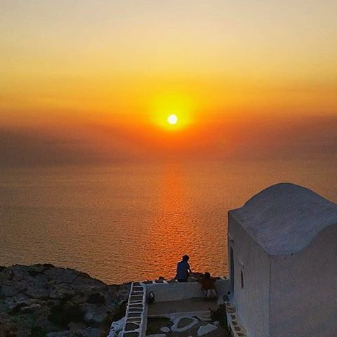 The perfect way to enjoy the sunset with your partner ❤️. Wonderful Sikinos island (Σίκινος).