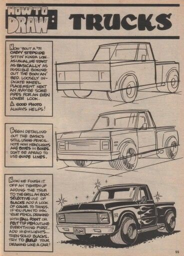 George Trosley - How to draw: Trucks