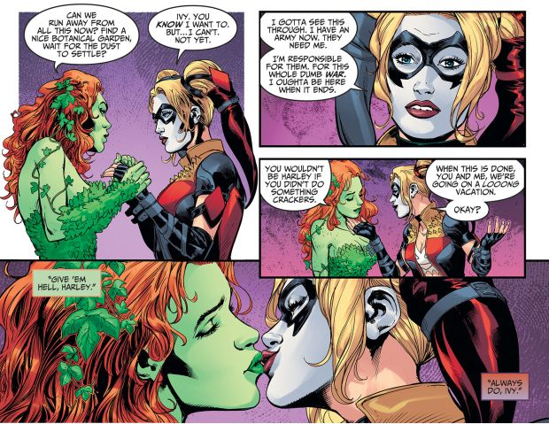 HARLEY QUINN AND POISON IVY KISS (INJUSTICE GODS AMONG US) - Part 2