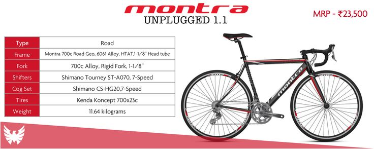 The Montra Unplugged 1.1 is an entry-level road bike that offers outstanding value for money and superb performance all wrapped up in a smart-looking package. The ride feel is very sprightly with a decent turn of speed and very sure-footed handling that will make anyone buying their first road bike feel right at home.